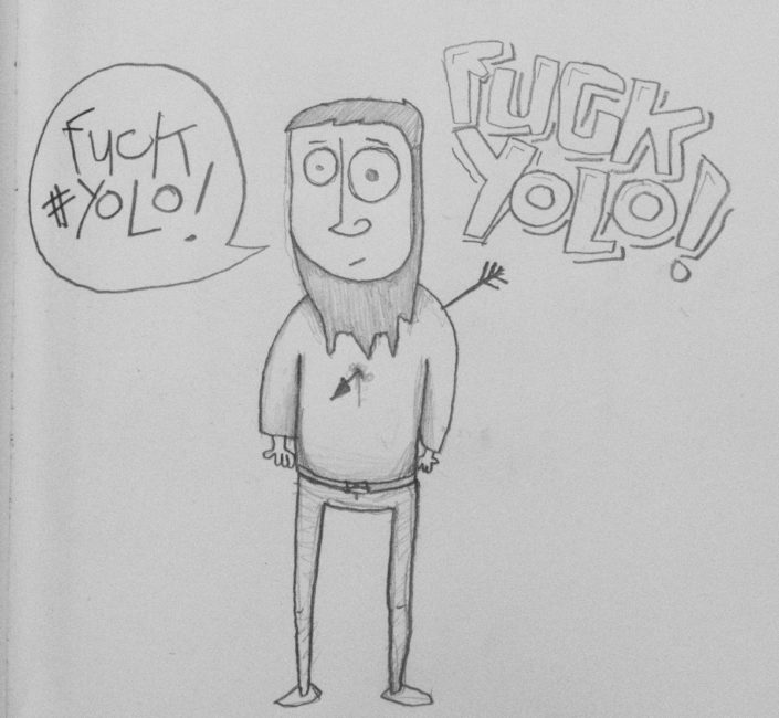 Illustration Fuck #Yolo