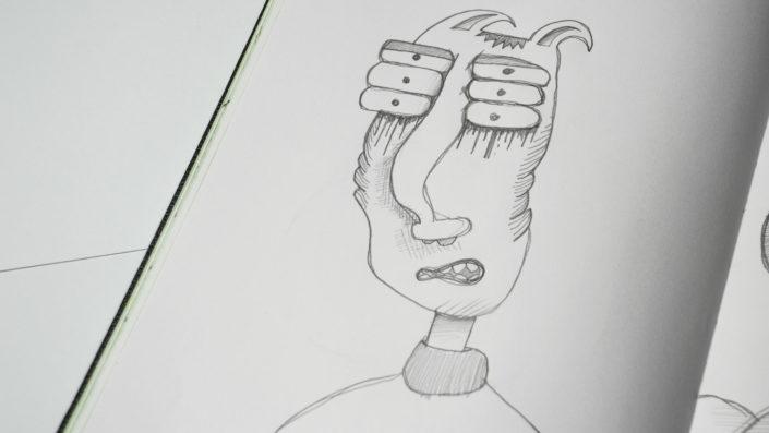 Illustration sechsäugies Unwesen