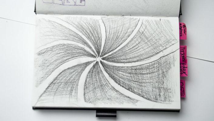 illustration apfelstrudel