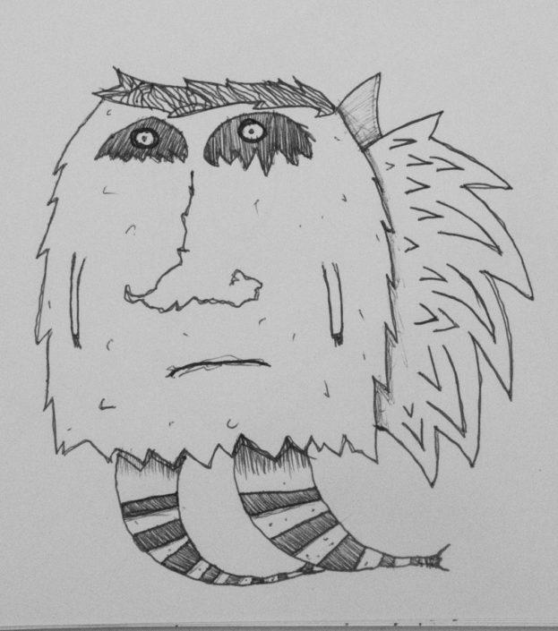 Illustration trauriger Panda Engel