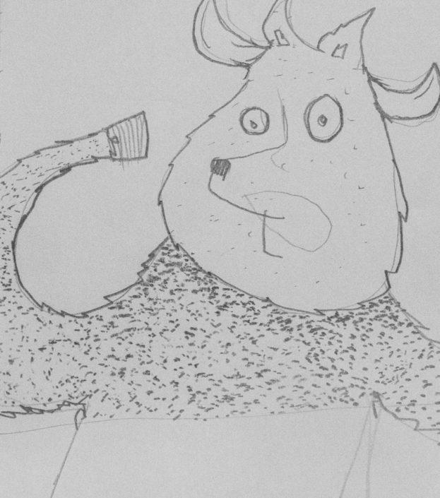 Illustration die schlaue Kuh