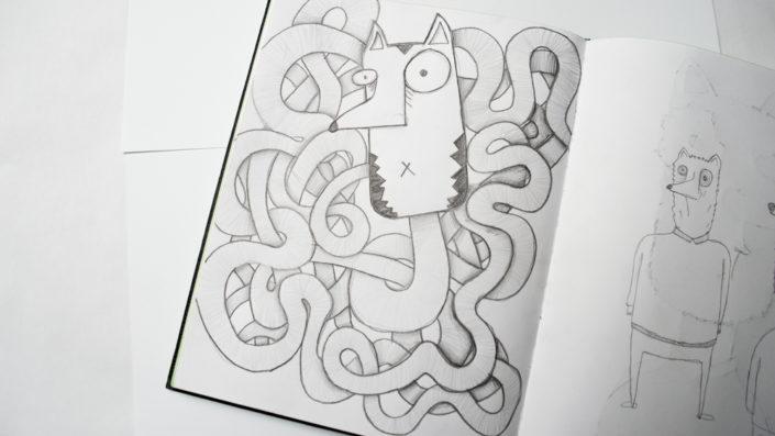 Illustration Fuchswurm